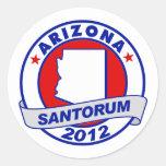 Rick Santorum Arizona Pegatinas Redondas