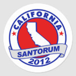 Rick Santorum California Etiquetas Redondas