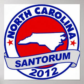 Rick Santorum Carolina del Norte Poster
