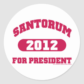 Rick Santorum Classic Round Sticker