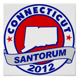 Rick Santorum Connecticut Poster