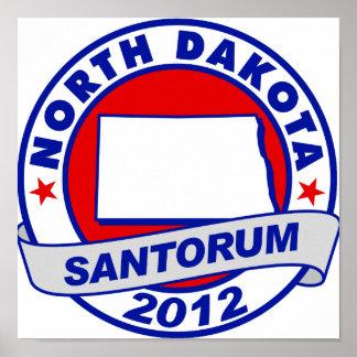 Rick Santorum Dakota del Norte Posters