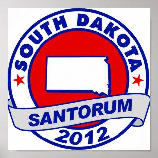 Rick Santorum Dakota del Sur Posters