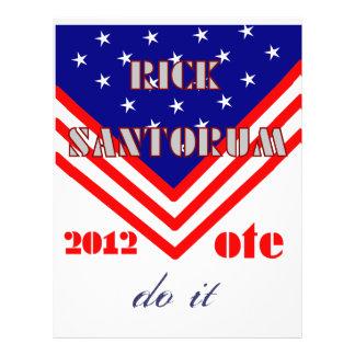 Rick Santorum Full Color Flyer