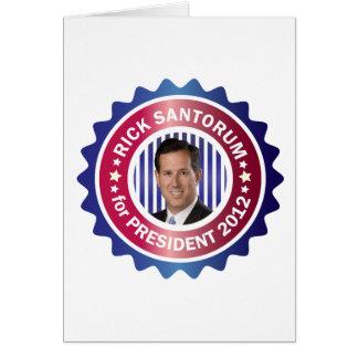 Rick Santorum for President 2012 Cards