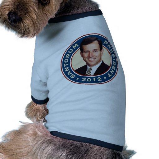 Rick Santorum for President 2012 Doggie Shirt