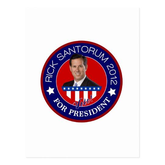 Rick Santorum for President 2012 Postcard