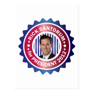 Rick Santorum for President 2012 Postcard