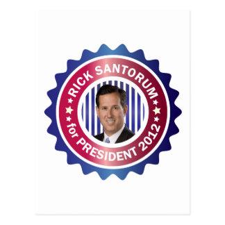 Rick Santorum for President 2012 Post Card