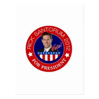 Rick Santorum for President 2012 Postcards