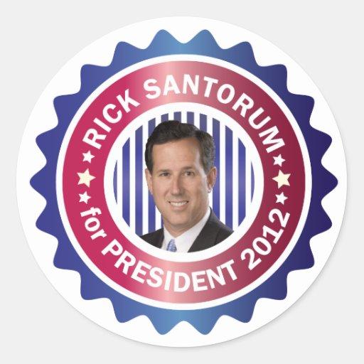 Rick Santorum for President 2012 Sticker