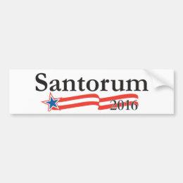 Rick Santorum for President 2016 Bumper Sticker