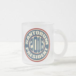 Rick Santorum for President 2016 10 Oz Frosted Glass Coffee Mug