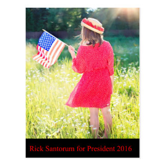 Rick Santorum for President 2016 Postcard