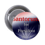 Rick Santorum For President Dulled Explosion Pinback Button