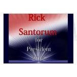 Rick Santorum For President Dulled Explosion Greeting Cards