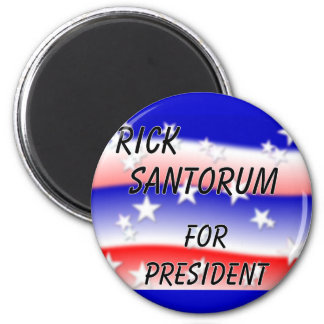 Rick Santorum For President Fading Red White & Blu Magnet