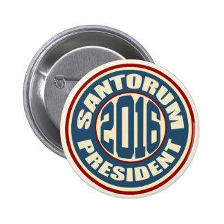 Rick Santorum for President in 2016 2 Inch Round Button