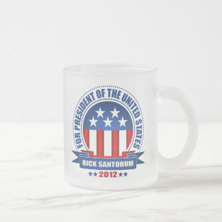 Rick Santorum Frosted Glass Coffee Mug