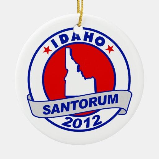 Rick Santorum Idaho Double-Sided Ceramic Round Christmas Ornament