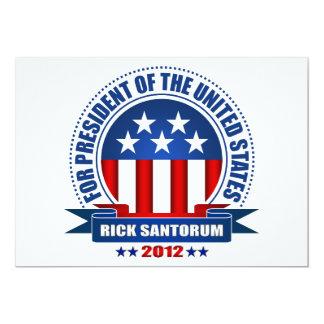 """Rick Santorum Invitación 5"""" X 7"""""""