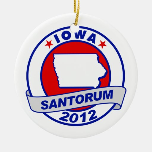 Rick Santorum Iowa Ornaments