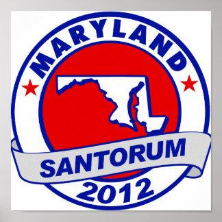 Rick Santorum Maryland Poster