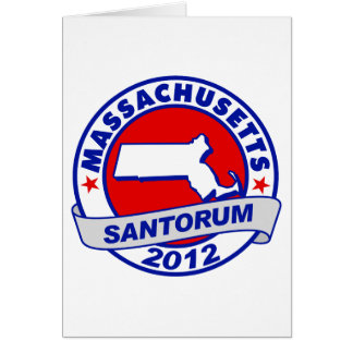Rick Santorum Massachusetts Stationery Note Card