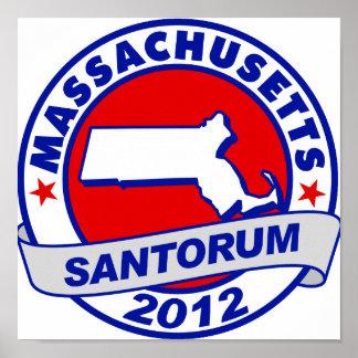 Rick Santorum Massachusetts Posters