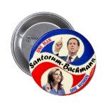 Rick Santorum / Michele Bachmann 2 Inch Round Button