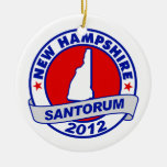 Rick Santorum New Hampshire Christmas Tree Ornament