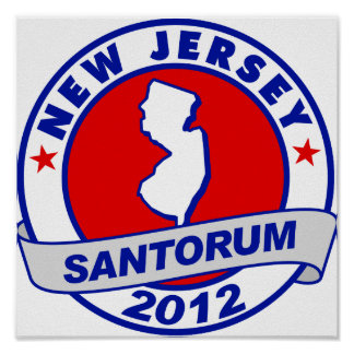 Rick Santorum New Jersey Posters