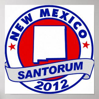 Rick Santorum New México Poster
