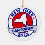 Rick Santorum New York Christmas Tree Ornaments