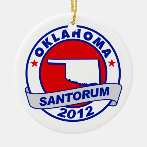 Rick Santorum Oklahoma Double-Sided Ceramic Round Christmas Ornament