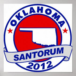 Rick Santorum Oklahoma Poster