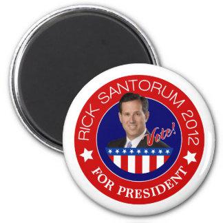 Rick Santorum para el presidente 2012 Imán Para Frigorifico
