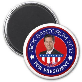 Rick Santorum para el presidente 2012 Imán De Frigorífico