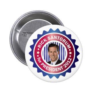 Rick Santorum para el presidente 2012 Pin Redondo De 2 Pulgadas