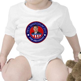 Rick Santorum para el presidente 2012 Trajes De Bebé