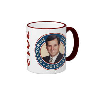 Rick Santorum para el presidente 2012 Taza A Dos Colores