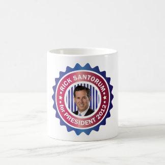 Rick Santorum para el presidente 2012 Taza Clásica
