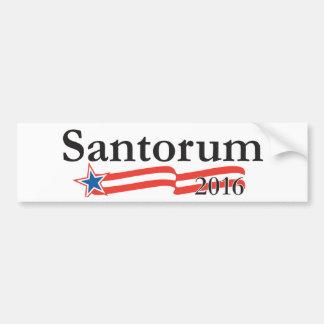 Rick Santorum para el presidente 2016 Pegatina Para Auto