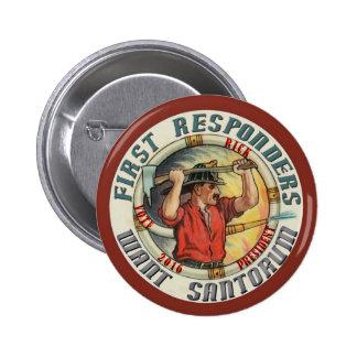 Rick Santorum para el presidente 2016 Pin Redondo 5 Cm