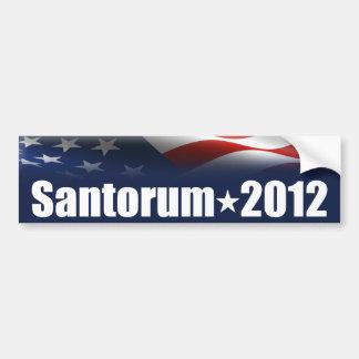 Rick Santorum para el presidente Pegatina Para Auto