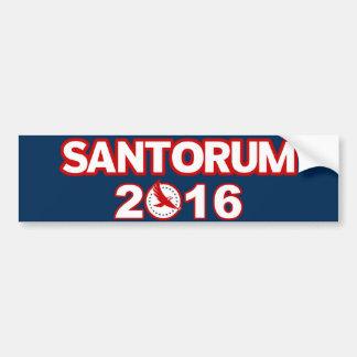 Rick Santorum para el presidente pegatina para el  Etiqueta De Parachoque