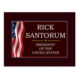 Rick Santorum para presidente V3 Tarjeta Postal