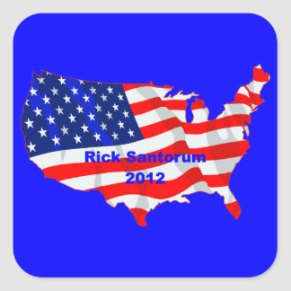 Rick Santorum Calcomanías Cuadradass Personalizadas