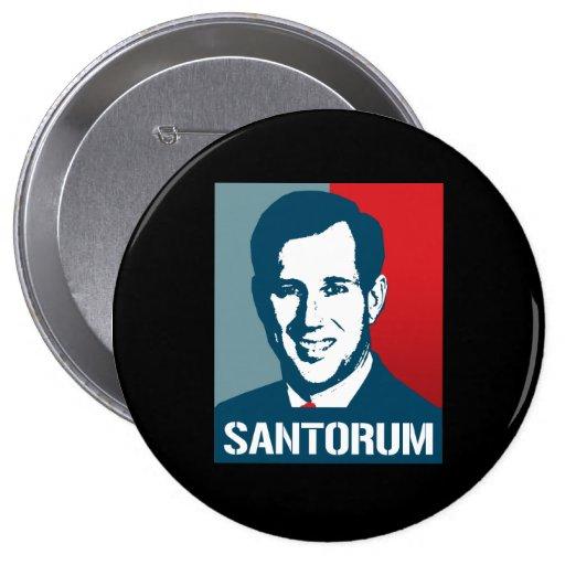 RICK SANTORUM POSTER 4 INCH ROUND BUTTON