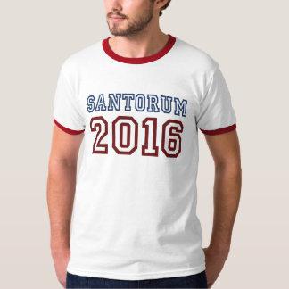 Rick Santorum President 2016 Athletic Font T-Shirt